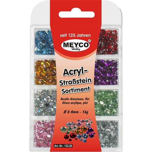 Acryl-Strasssteine-Sortiment, 16 Gramm