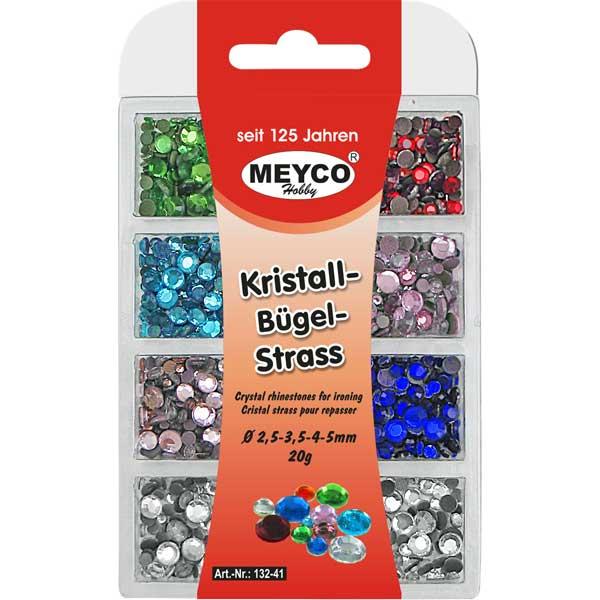 Kristall-Bügelstrass-Sortiment, 20 Gramm