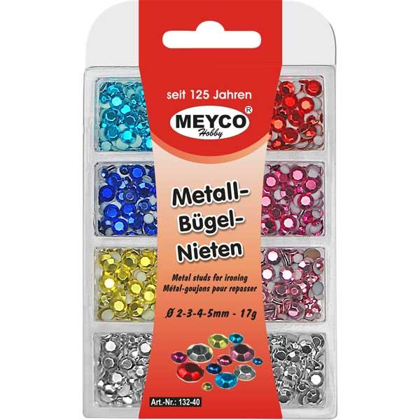 Metall-Bügelnieten-Sortiment, 17 Gramm