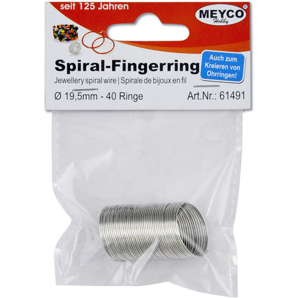 Spiral-Fingerring 19,5 mm, 40 Ringe