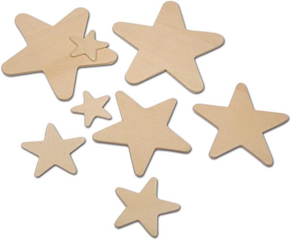 Holz-Sterne, natur
