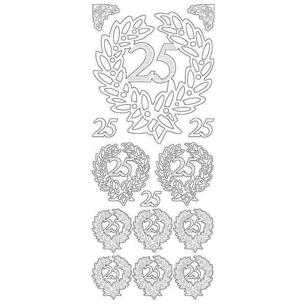 Stickerbogen Jubiläum 25, Silber
