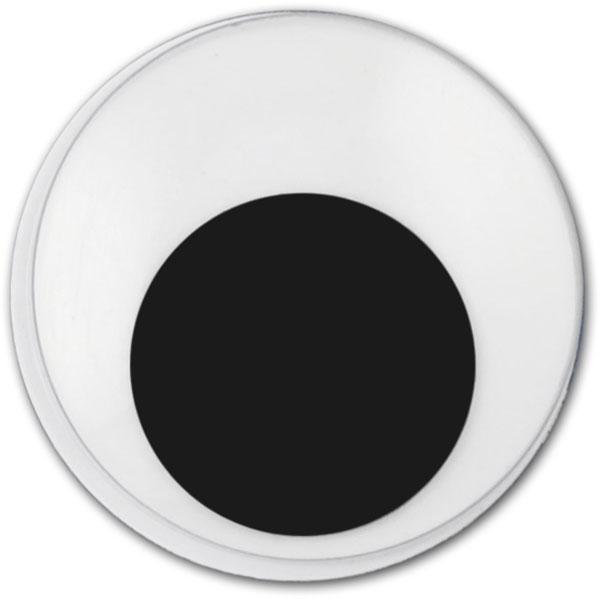 Wackelaugen rund, 8 mm, selbstklebend, 18 Stück