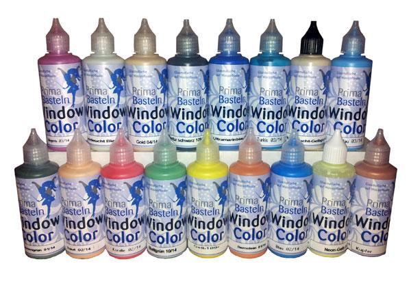 Window Color Set 10 Farben je 80 ml - Set 2