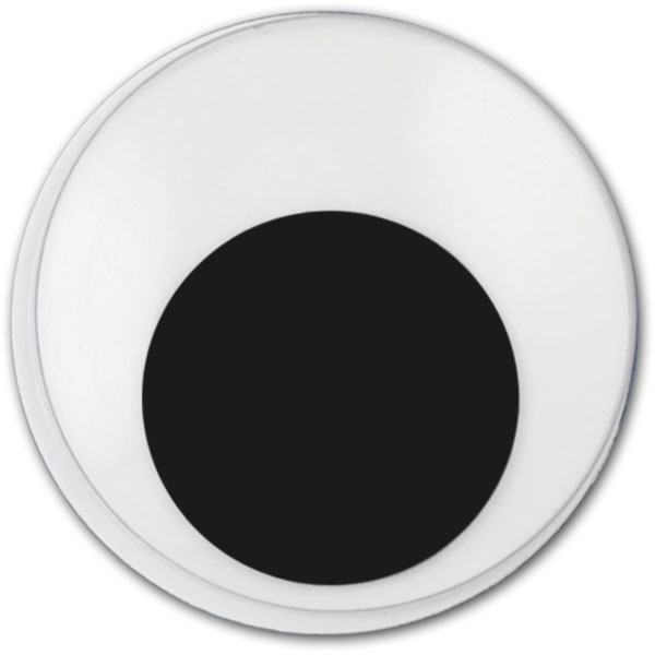 Wackelaugen rund, 16 mm, selbstklebend, 10 Stück