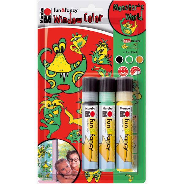 "Marabu Window Color Set ""Monster World"""