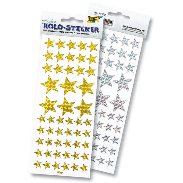 Hologramm-Sticker, Stern-Sticker