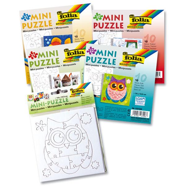 Mini Puzzle, 4 Motive sortiert