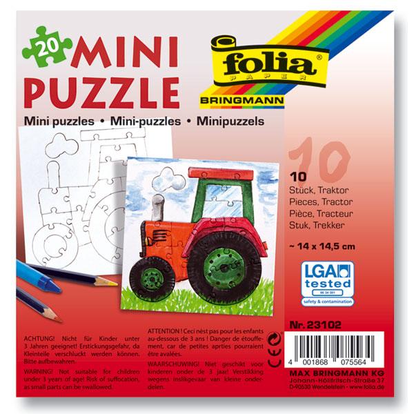 Mini Puzzle Traktor, 10 Stück