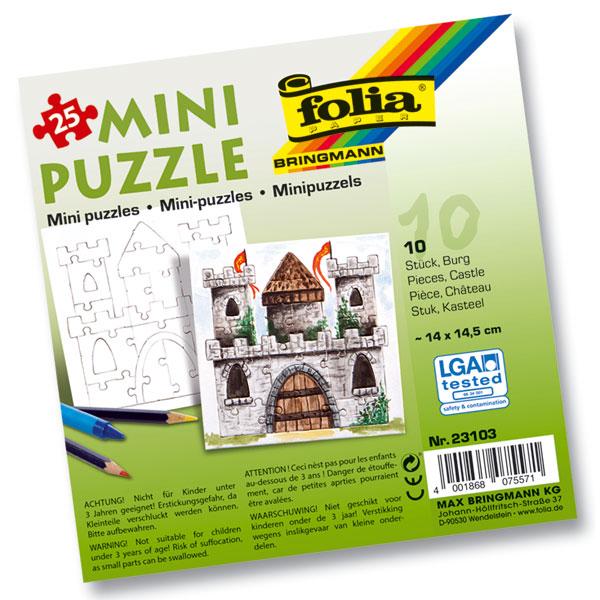 Mini Puzzle Burg, 10 Stück