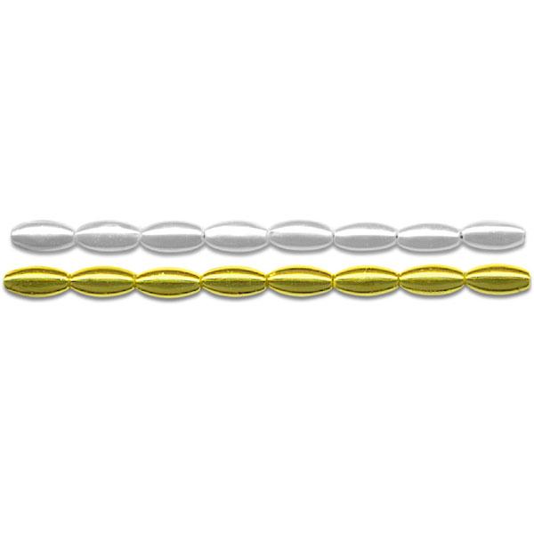 Wachsperlen - Reiskörner 4 x 8 mm, 60 Stück