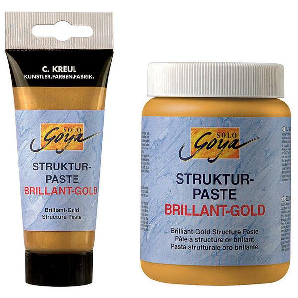 Strukturpaste Brillant-Gold