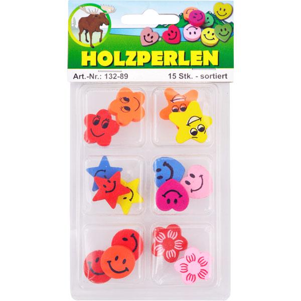 "Holzperlen-Set ""Smileys"""