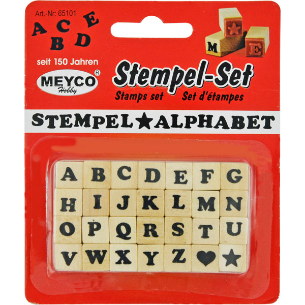 Stempel-Set ABC, Stempel Alphabet