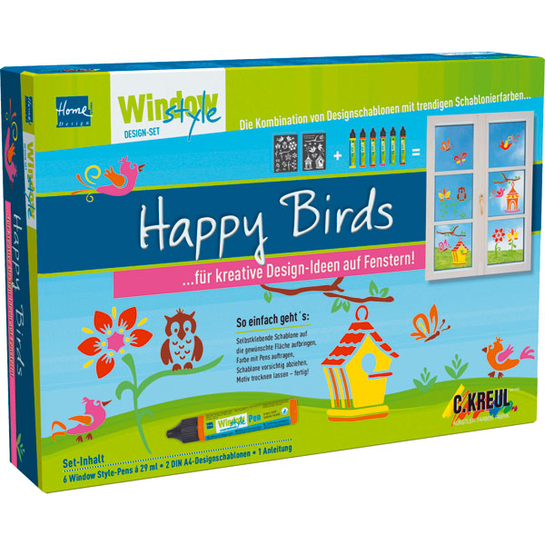 Window Style Set - Happy Birds