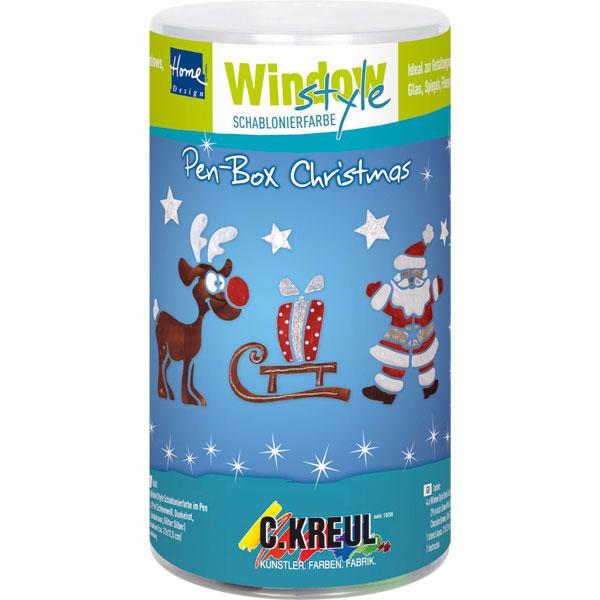 Window Style Pen Box - Christmas