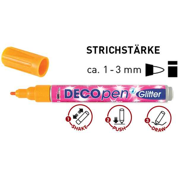 Deco-Pen, Deko-Stift Glitter