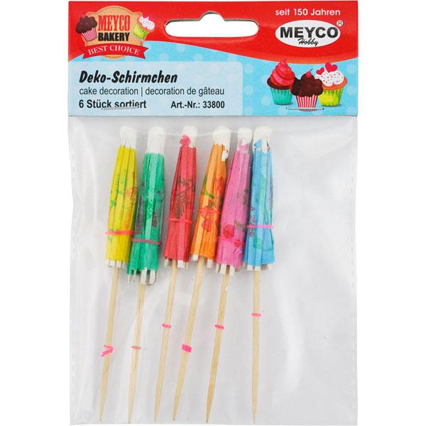 Deko-Schirmchen, 6 Stück