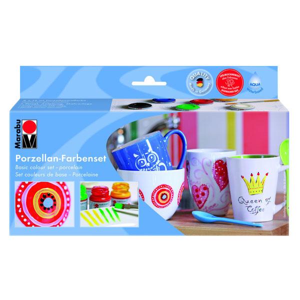 Marabu Porcelain, Porzellanmalfarbe Starter-Set