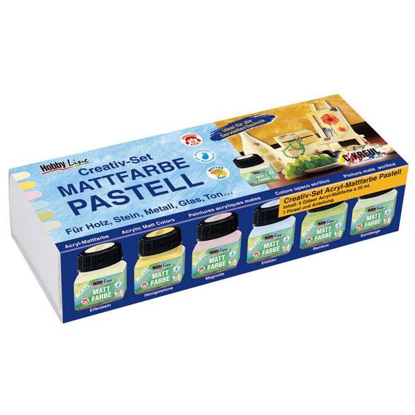 KREUL Acryl-Mattfarben Pastell Creativ Set