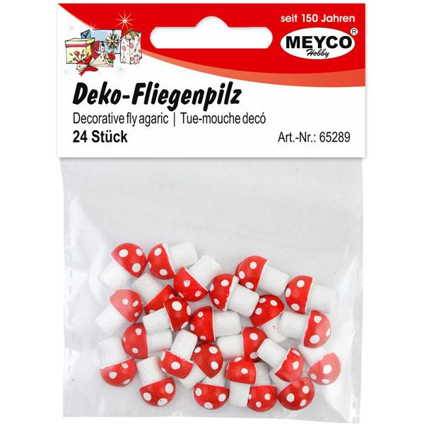 Deko-Fliegenpilze, 24 Stück