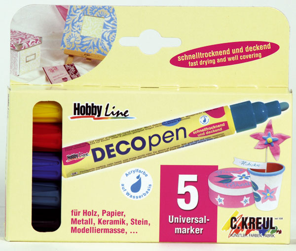 Deco-Pen, Deko-Stift medium 5er-Set