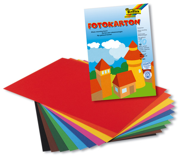 Fotokarton 300 g/qm, 10-farbig sortiert