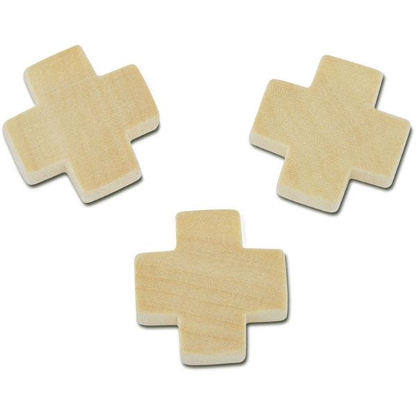 Holz-Kreuz natur, 3 Stück