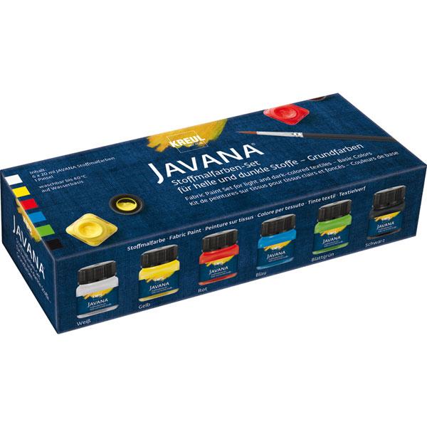 "KREUL Javana Stoffmalfarben Set ""Opak"" Grundfarben"