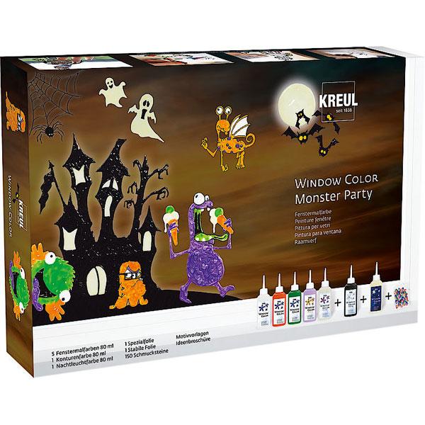 KREUL Window Color Set Monster Party