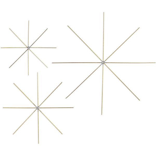 Drahtstern für Perlen, 10 cm, 5 Stück