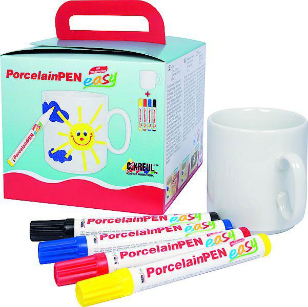 """KREUL Porcelain-Pen easy Tassen-Set """"Mal eine Tasse"""""""
