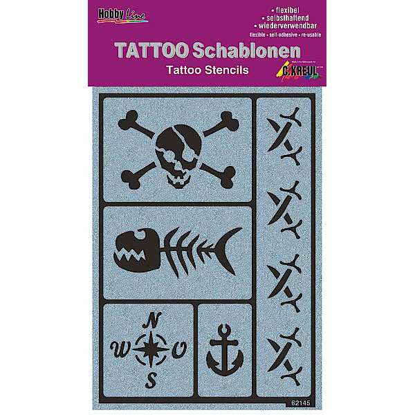 KREUL Tattoo Schablone Party of the Pirates
