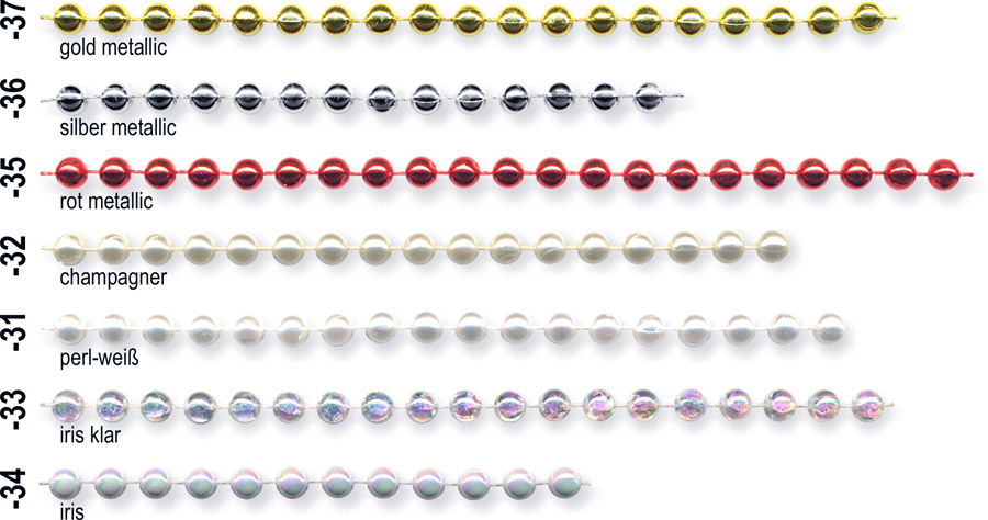Deko-Perlenkette, 6 mm