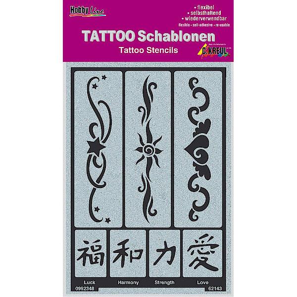 KREUL Tattoo Schablone Bänder 2