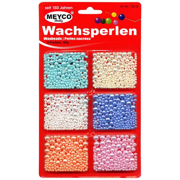 Wachsperlen-Set, 6-fach sortiert