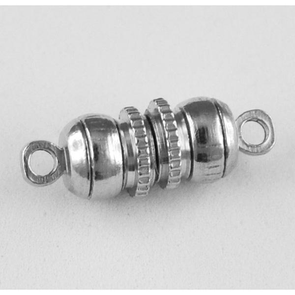 """Magnetschließe """"Zylinder mit Rädchen"""" silber, 17 mm"""