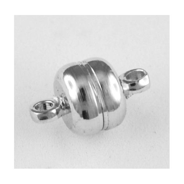 """Magnetschließe """"Rund"""" silber, 12 mm"""