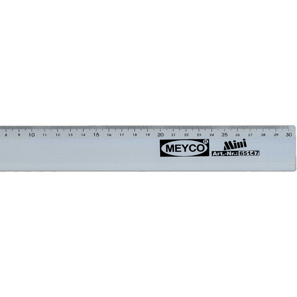 Lineal 30 cm, Aluminium