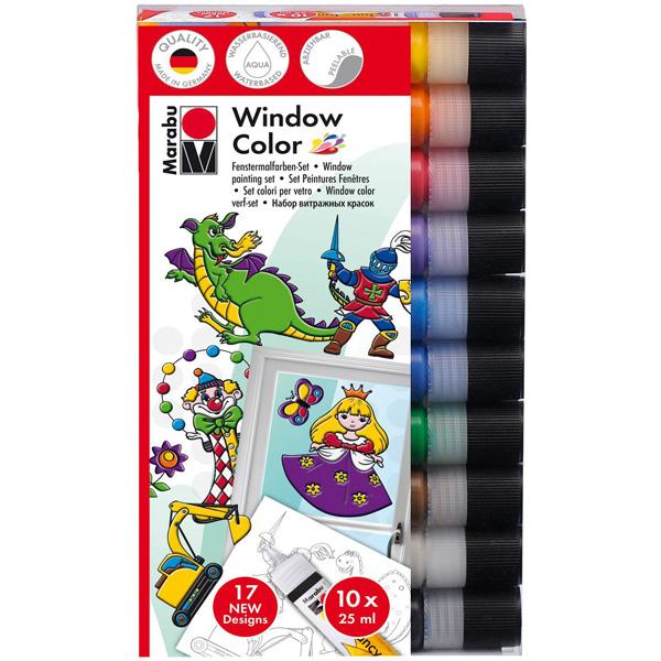 Window Color Set Marabu fun & fancy 10 x 25 ml