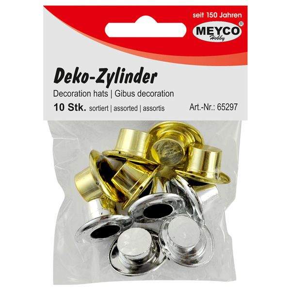 Deko-Zylinder, Gold & Silber