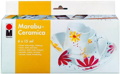 Marabu Ceramica, Keramik- & Porzellanfarbe Starter-Set