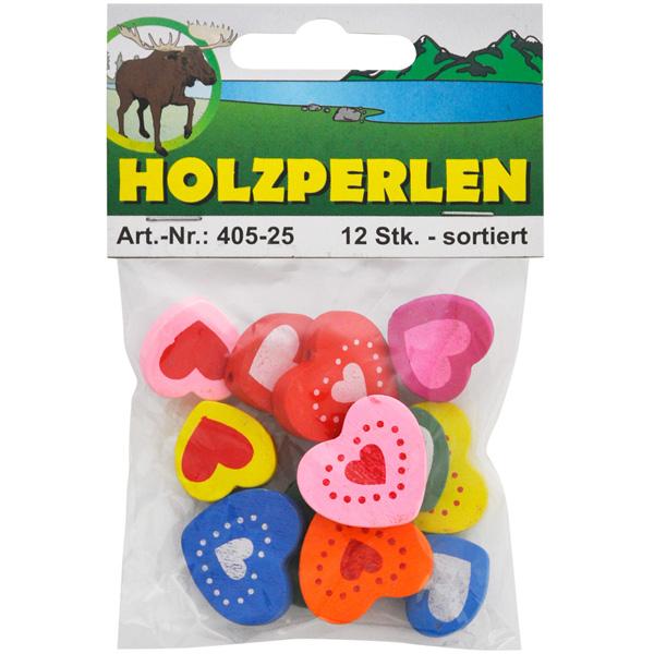 """Holzperlen-Set """"Herzen"""""""