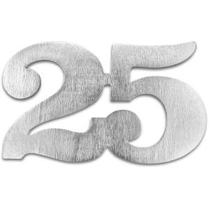 Jubiläumszahl 25, silber