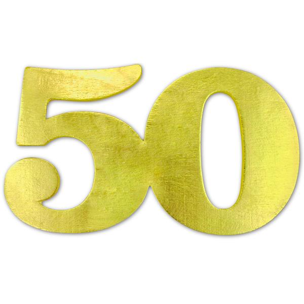 Jubiläumszahl 50, gold