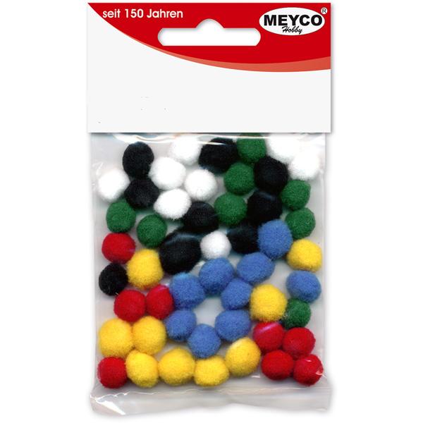 Pom Pom Sortiment 10 mm, 50 Stück