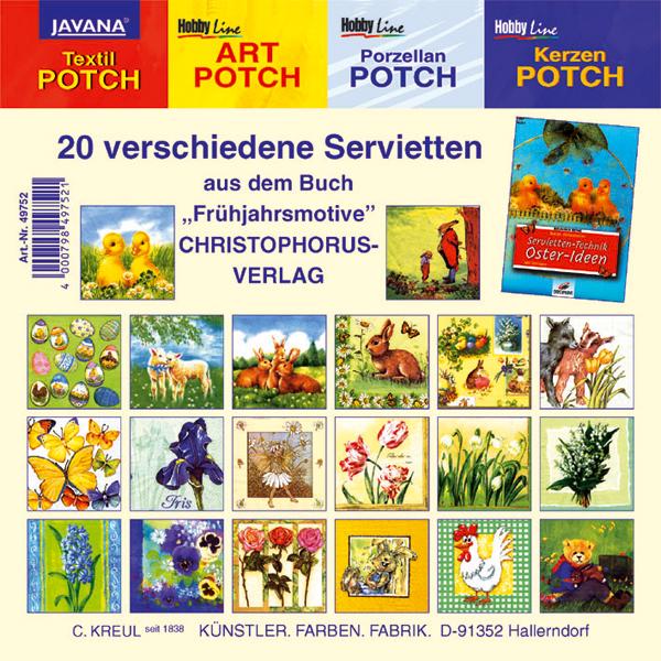 "20 Motiv-Servietten ""Frühjahrsmotive"""