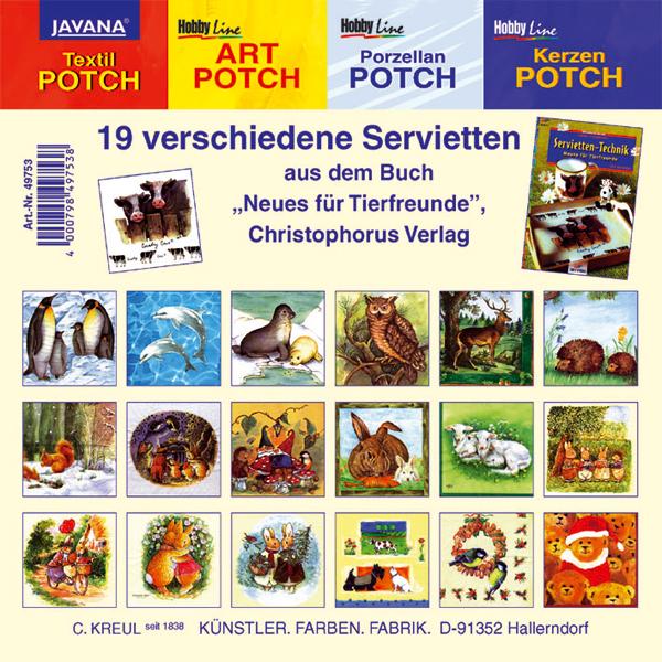 """19 Motiv-Servietten """"Tiere"""""""