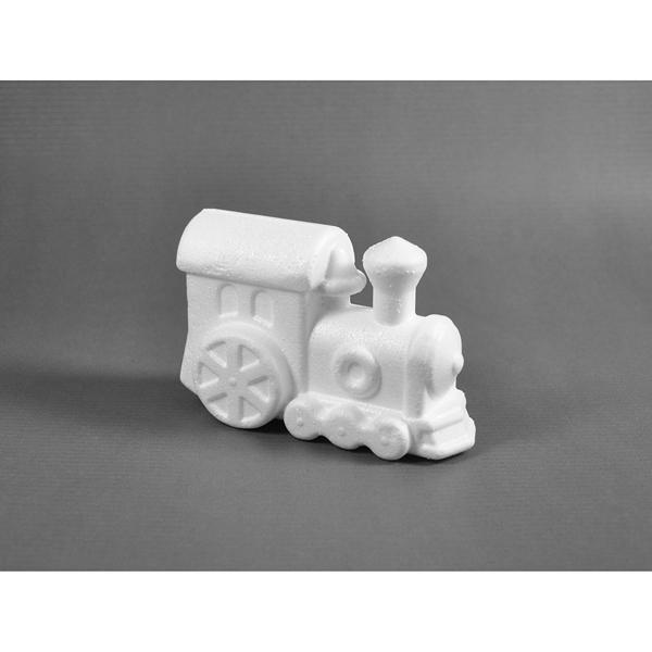 Styropor-Lokomotive, 12 x 8 cm