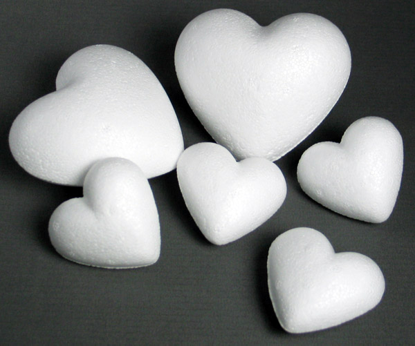 Styropor-Herz